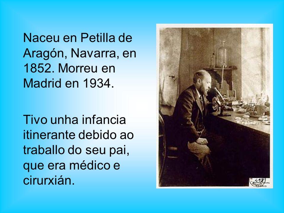 Naceu en Petilla de Aragón, Navarra, en 1852. Morreu en Madrid en 1934. Tivo unha infancia itinerante debido ao traballo do seu pai, que era médico e