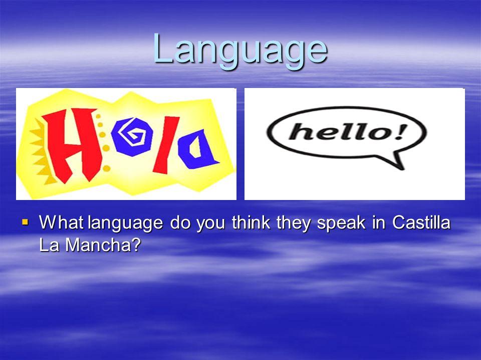 Language What language do you think they speak in Castilla La Mancha.