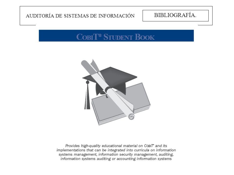 BIBLIOGRAFÍA. AUDITORÍA DE SISTEMAS DE INFORMACIÓN