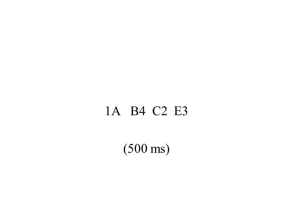 1A B4 C2 E3 (500 ms)