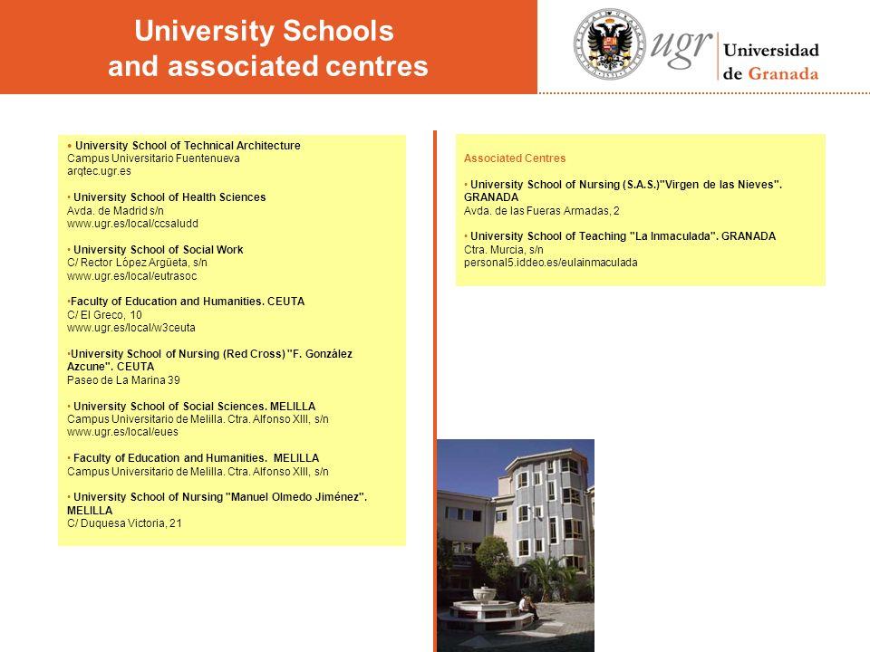 Associated Centres University School of Nursing (S.A.S.) Virgen de las Nieves .