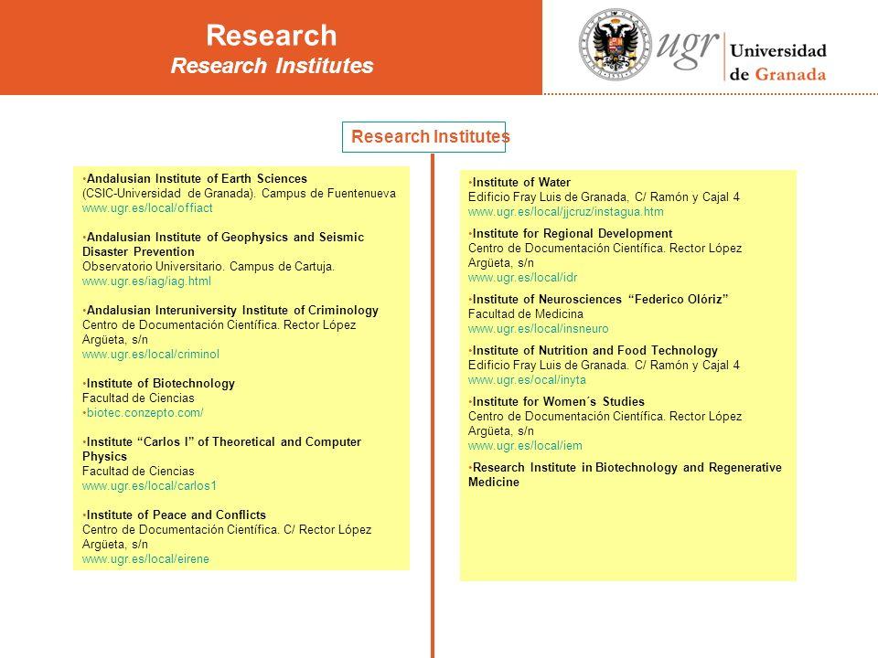 Research Institutes Andalusian Institute of Earth Sciences (CSIC-Universidad de Granada).