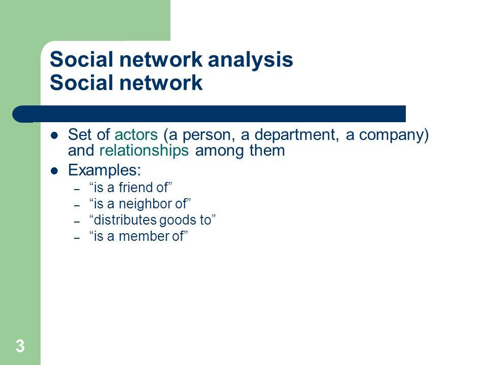 4 Social Network Analysis Graphical representation - Sociograms