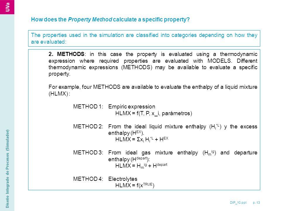 DIP_10.ppt p. 13 Diseño Integrado de Procesos (Simulador) 2.