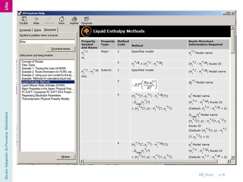 DIP_10.ppt p. 16 Diseño Integrado de Procesos (Simulador)