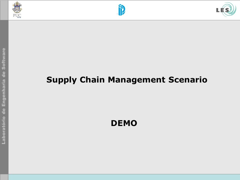 Supply Chain Management Scenario DEMO