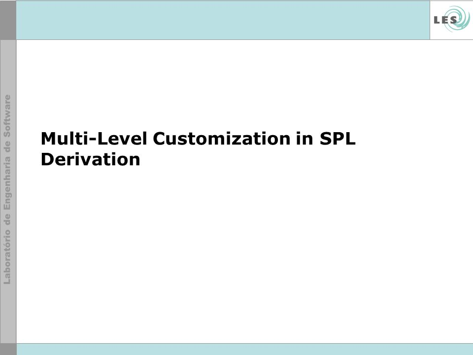Multi-Level Customization in SPL Derivation