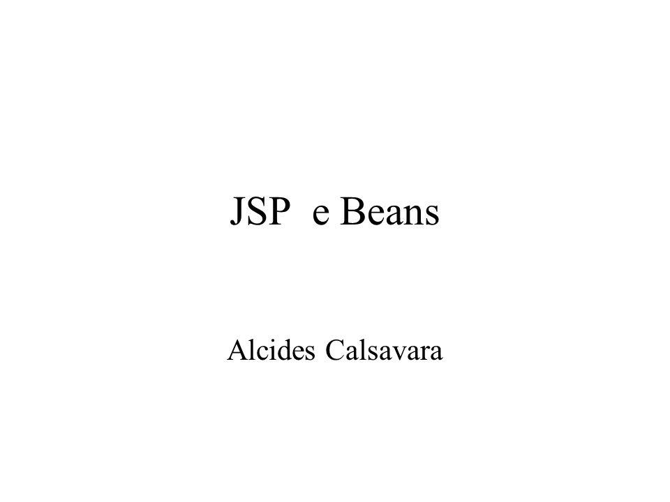 JSP e Beans Alcides Calsavara