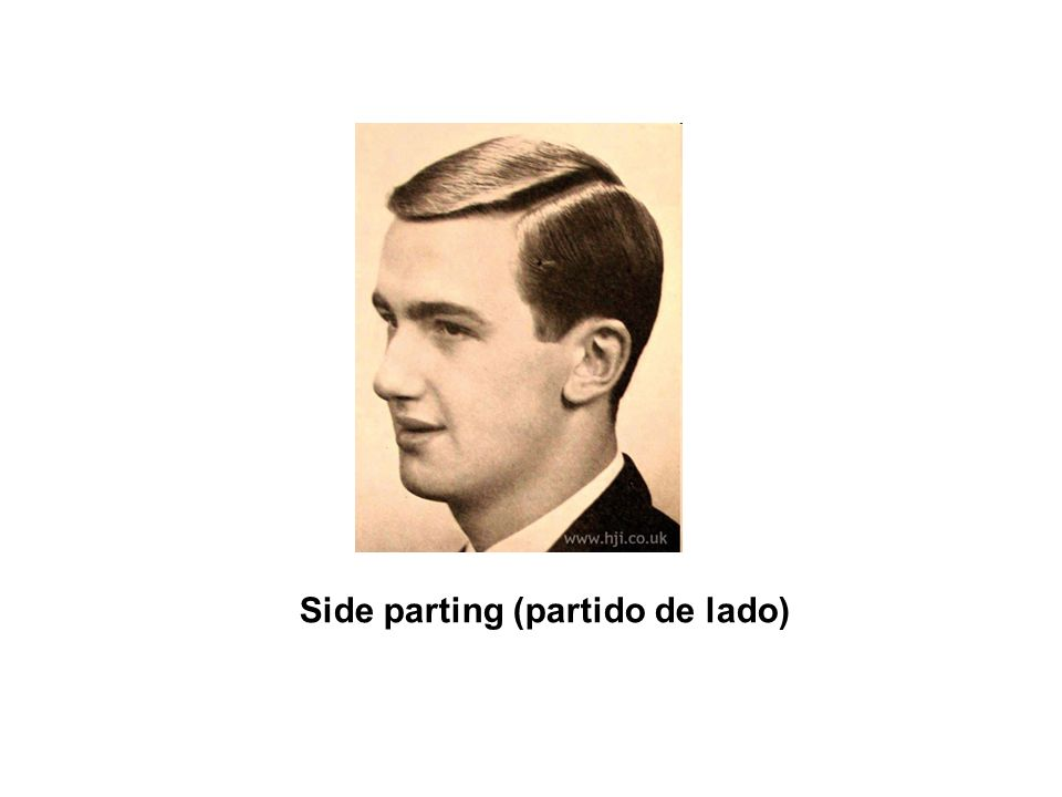 Side parting (partido de lado)