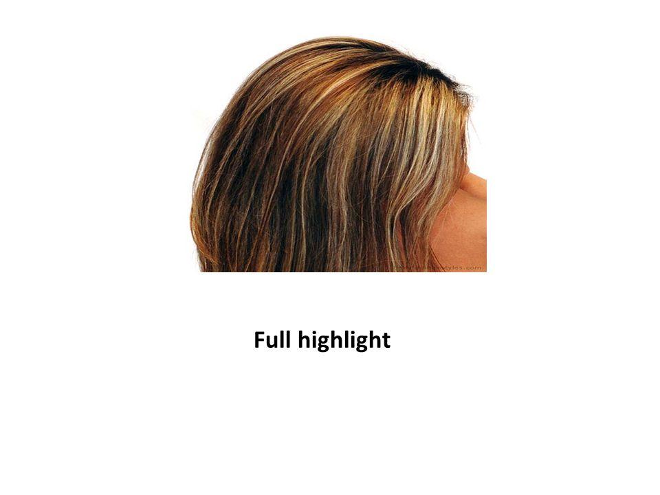 Luzes em parte do cabelo
