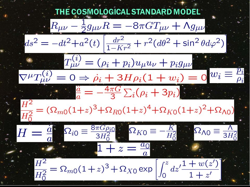 THE COSMOLOGICAL STANDARD MODEL