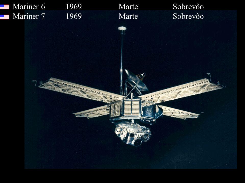 Mariner 6 1969 Marte Sobrevôo Mariner 7 1969 Marte Sobrevôo