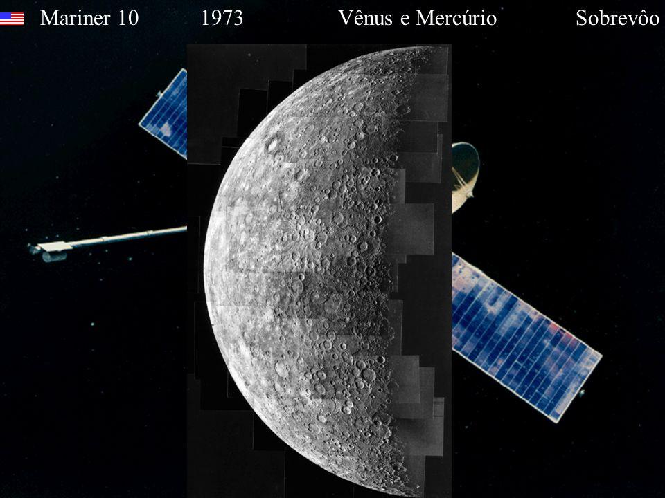Mariner 10 1973 Vênus e Mercúrio Sobrevôo