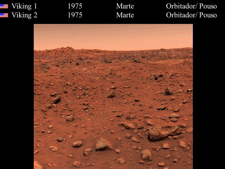 Viking 1 1975 Marte Orbitador/ Pouso Viking 2 1975 Marte Orbitador/ Pouso