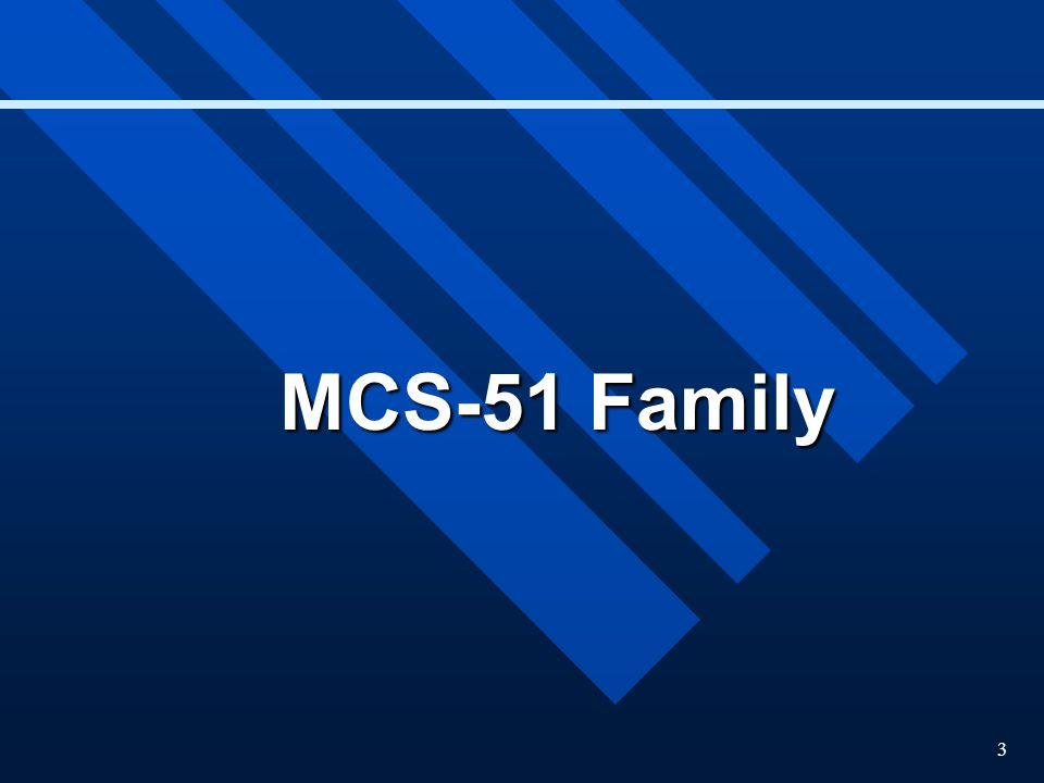 3 MCS-51 Family