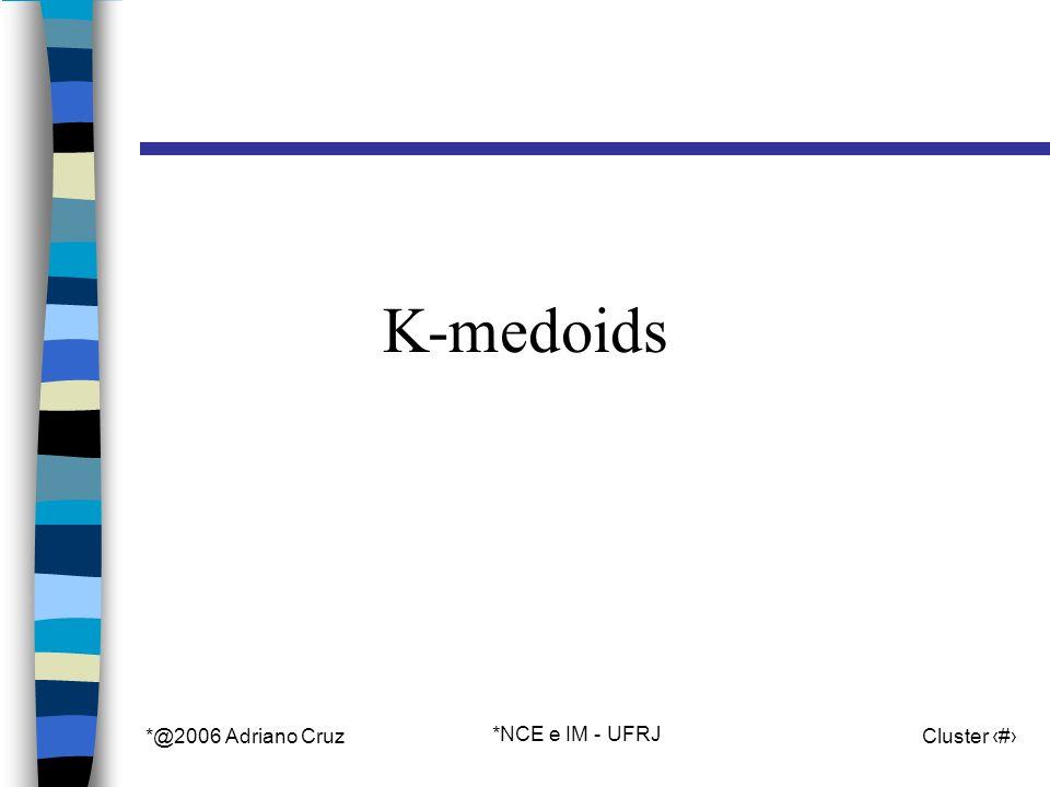 *@2006 Adriano Cruz *NCE e IM - UFRJ Cluster 25 K-medoids