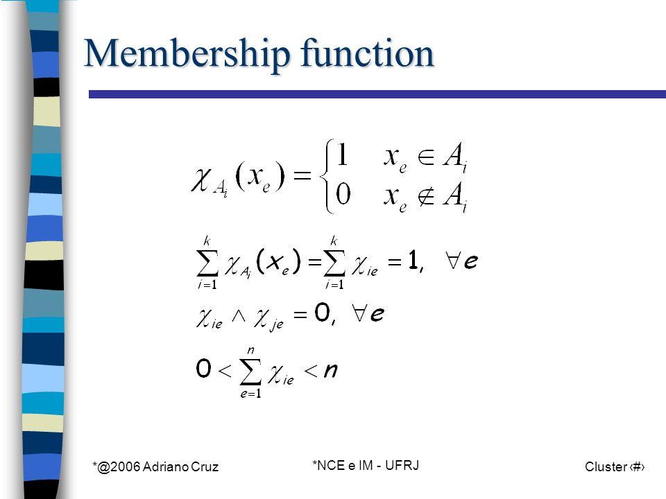 *@2006 Adriano Cruz *NCE e IM - UFRJ Cluster 6 Membership function