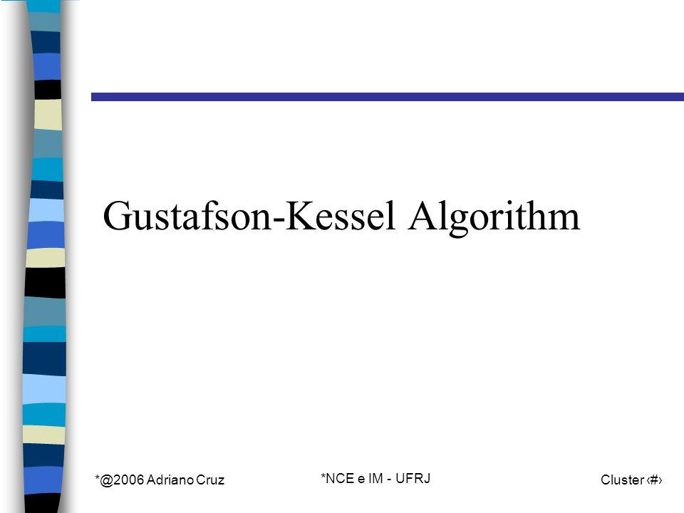 *@2006 Adriano Cruz *NCE e IM - UFRJ Cluster 75 Gustafson-Kessel Algorithm