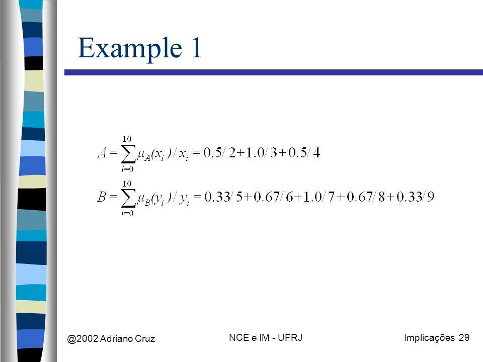 @2002 Adriano Cruz NCE e IM - UFRJImplicações 29 Example 1