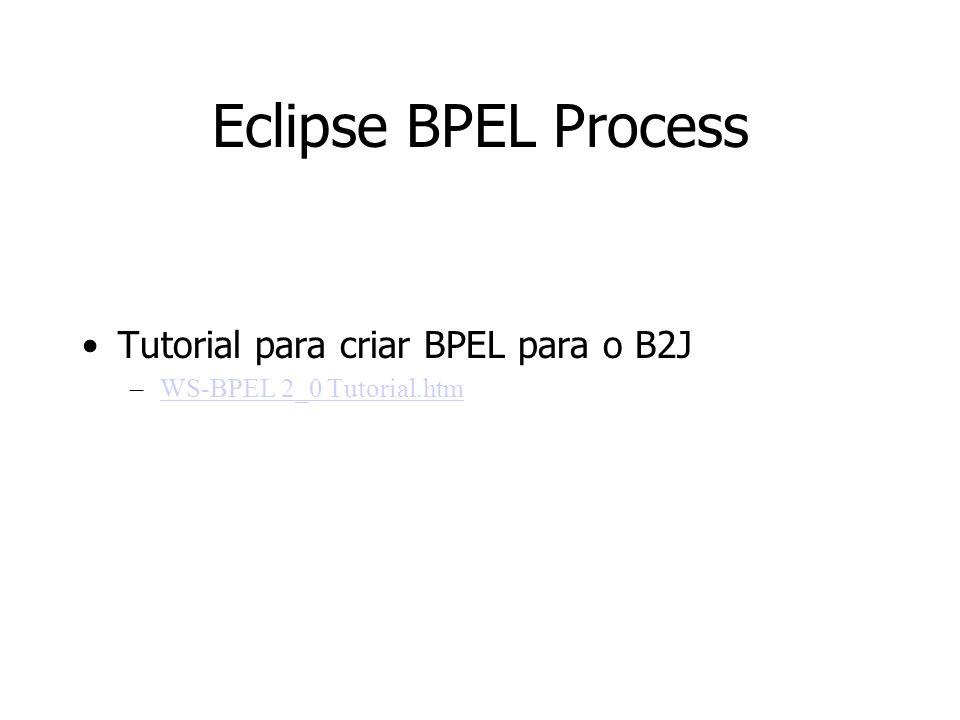 Eclipse BPEL Process Tutorial para criar BPEL para o B2J –WS-BPEL 2_0 Tutorial.htmWS-BPEL 2_0 Tutorial.htm