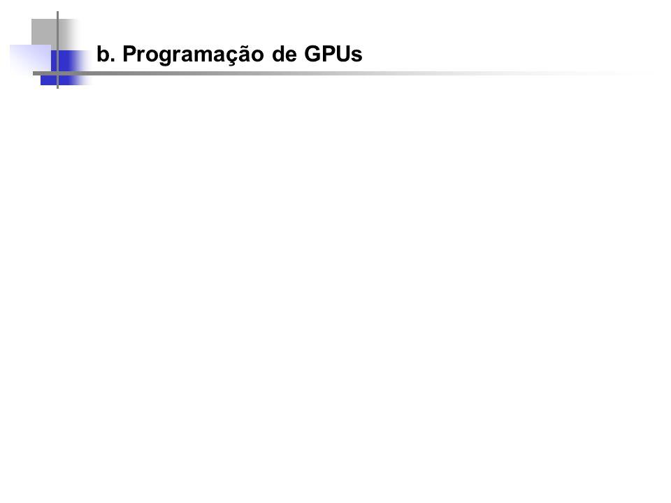b. Programação de GPUs