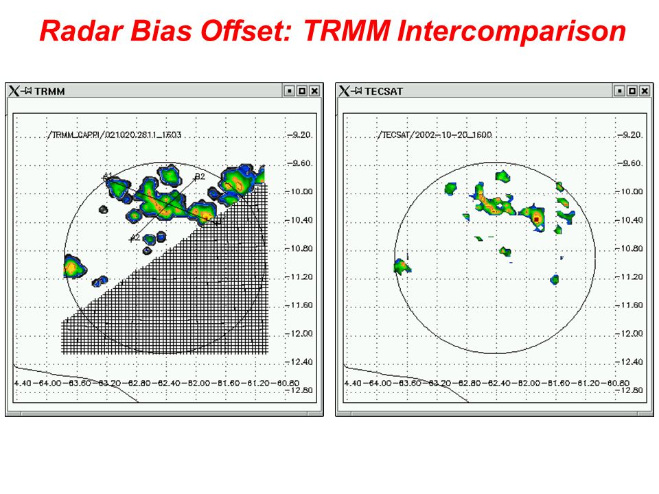 Radar Bias Offset: TRMM Intercomparison