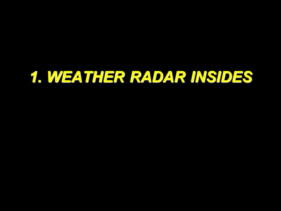 1. WEATHER RADAR INSIDES