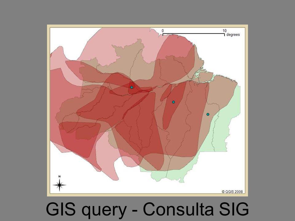 GIS query - Consulta SIG