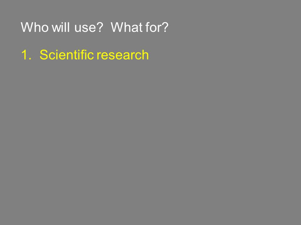 1. Scientific research