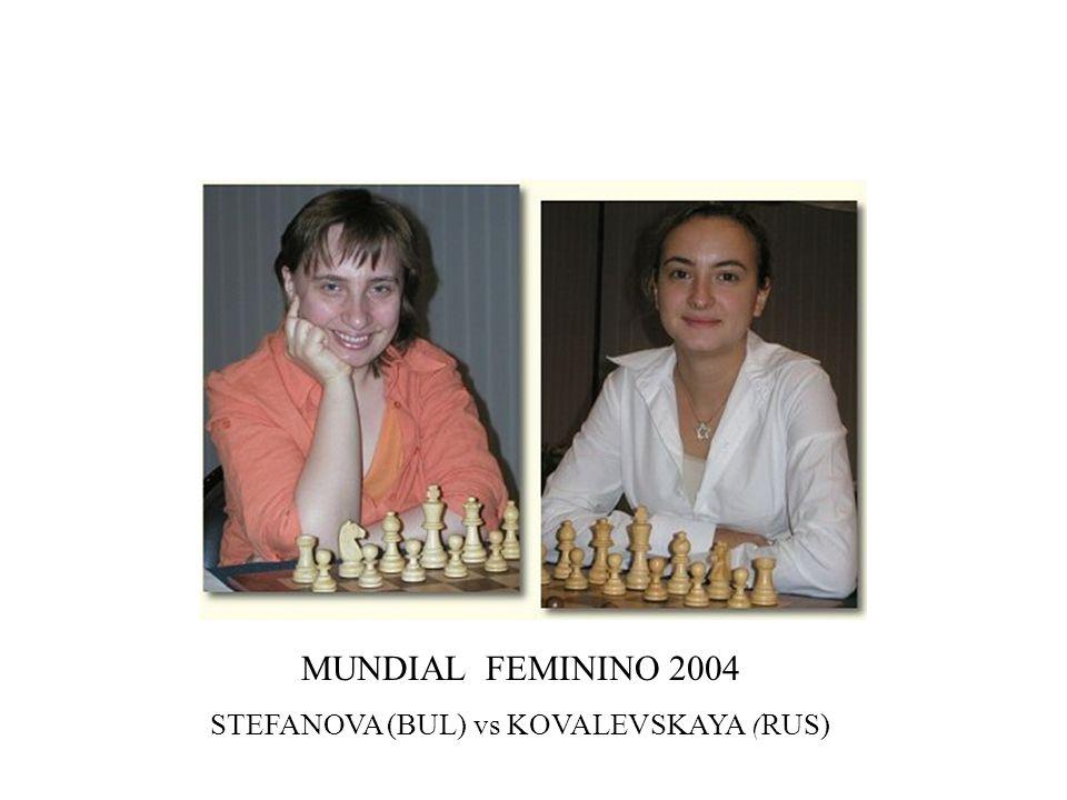 MUNDIAL FEMININO 2004 STEFANOVA (BUL) vs KOVALEVSKAYA (RUS)