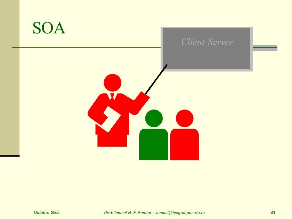 Outubro 2008 Prof. Ismael H. F. Santos - ismael@tecgraf.puc-rio.br 43 Client-Server SOA