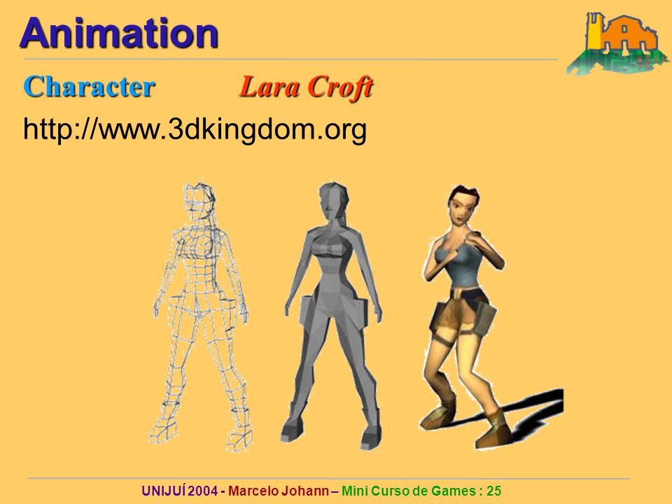 UNIJUÍ Marcelo Johann – Mini Curso de Games : 25Animation Character Lara Croft
