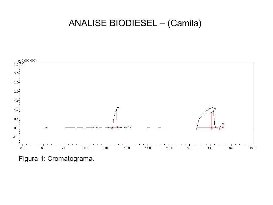 ANALISE BIODIESEL – (Camila) Figura 1: Cromatograma.