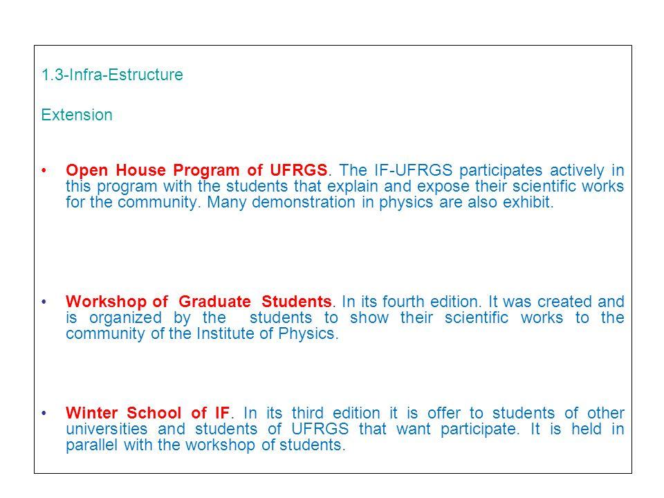 1.3-Infra-Estructure Extension Open House Program of UFRGS.