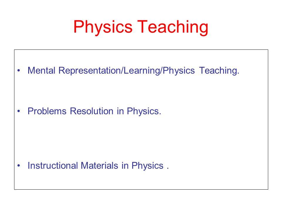 Physics Teaching Mental Representation/Learning/Physics Teaching.
