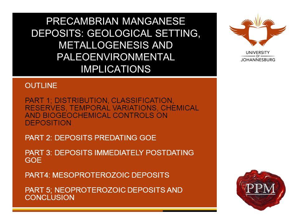 Inorganic Precipitation of Mn-oxides Manganese Deposits13