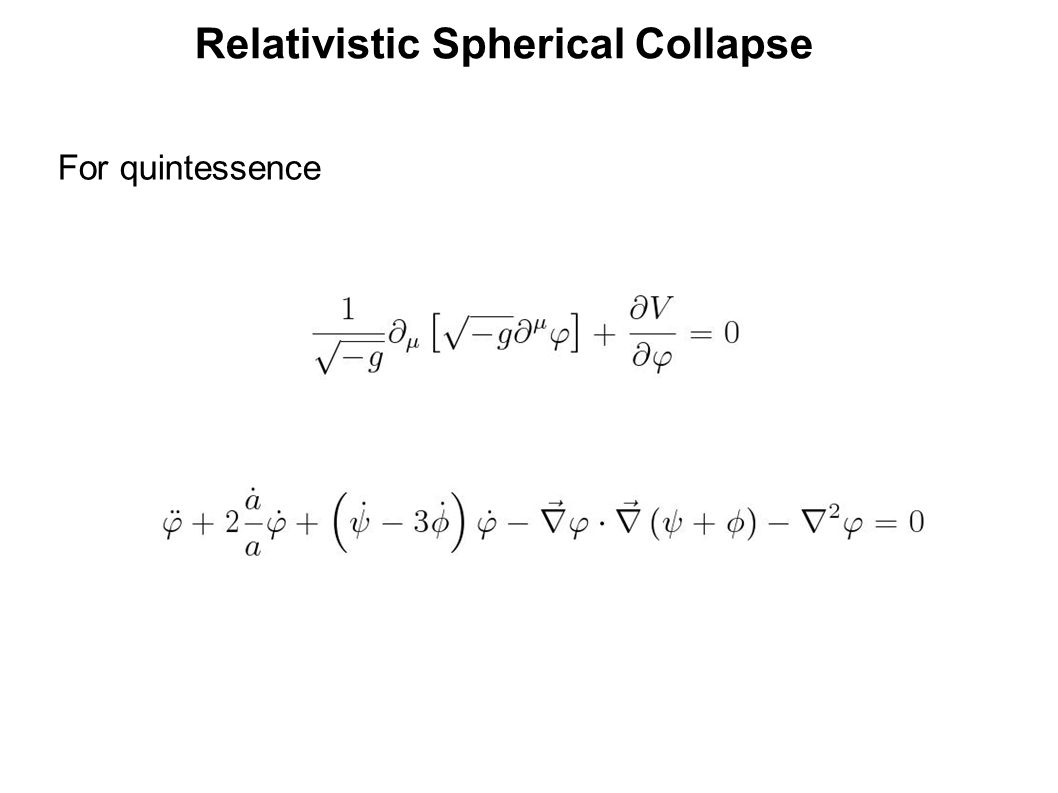 Relativistic Spherical Collapse For quintessence