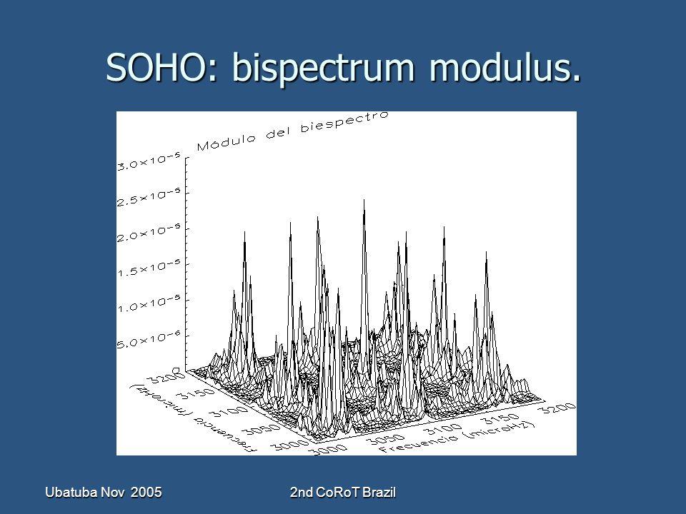 Ubatuba Nov 20052nd CoRoT Brazil SOHO: bispectrum modulus.