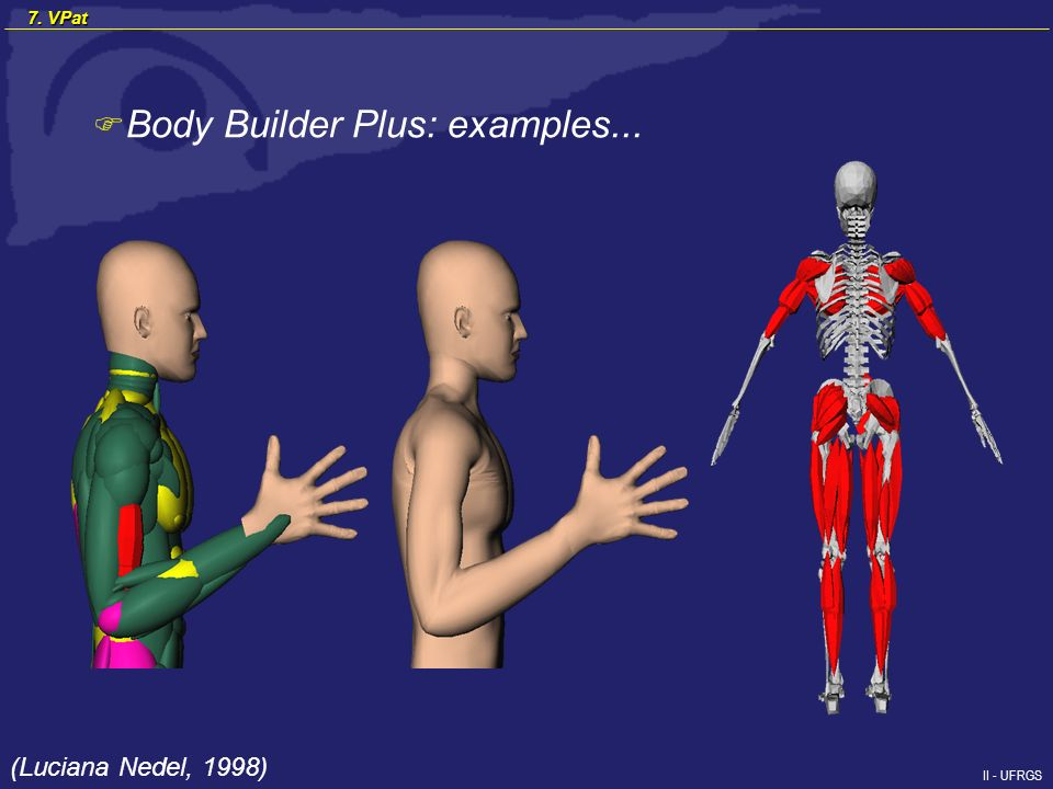 II - UFRGS F Body Builder Plus: examples... (Luciana Nedel, 1998) 7. VPat