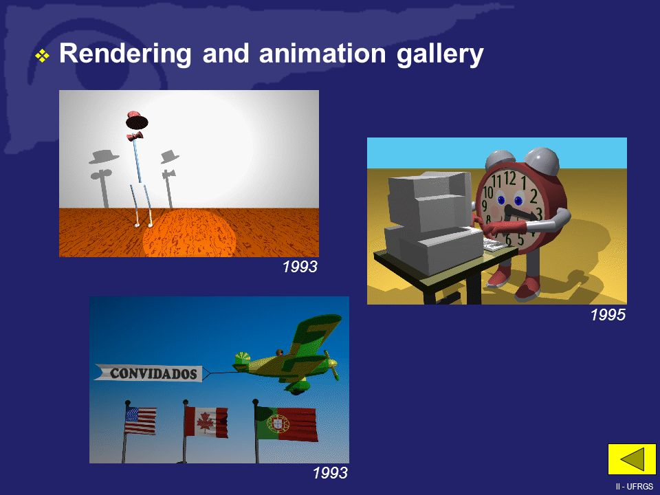 Rendering and animation gallery 1995 1993