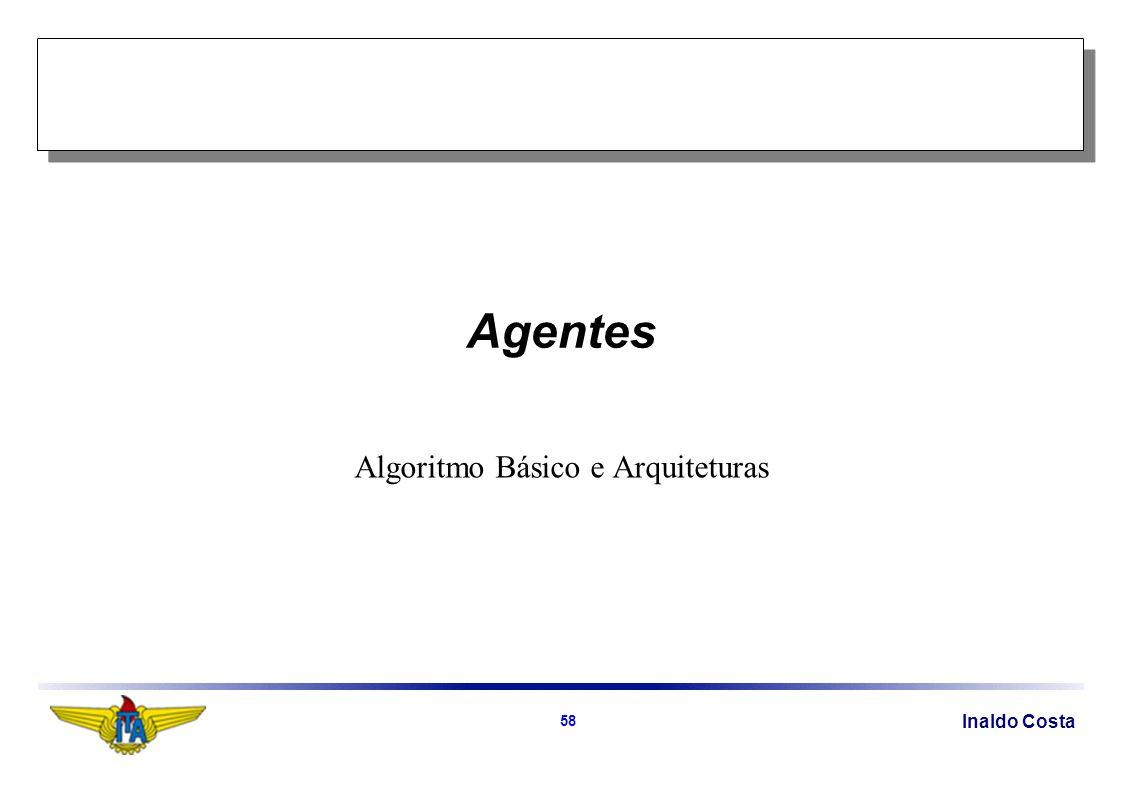 Inaldo Costa 58 Agentes Algoritmo Básico e Arquiteturas