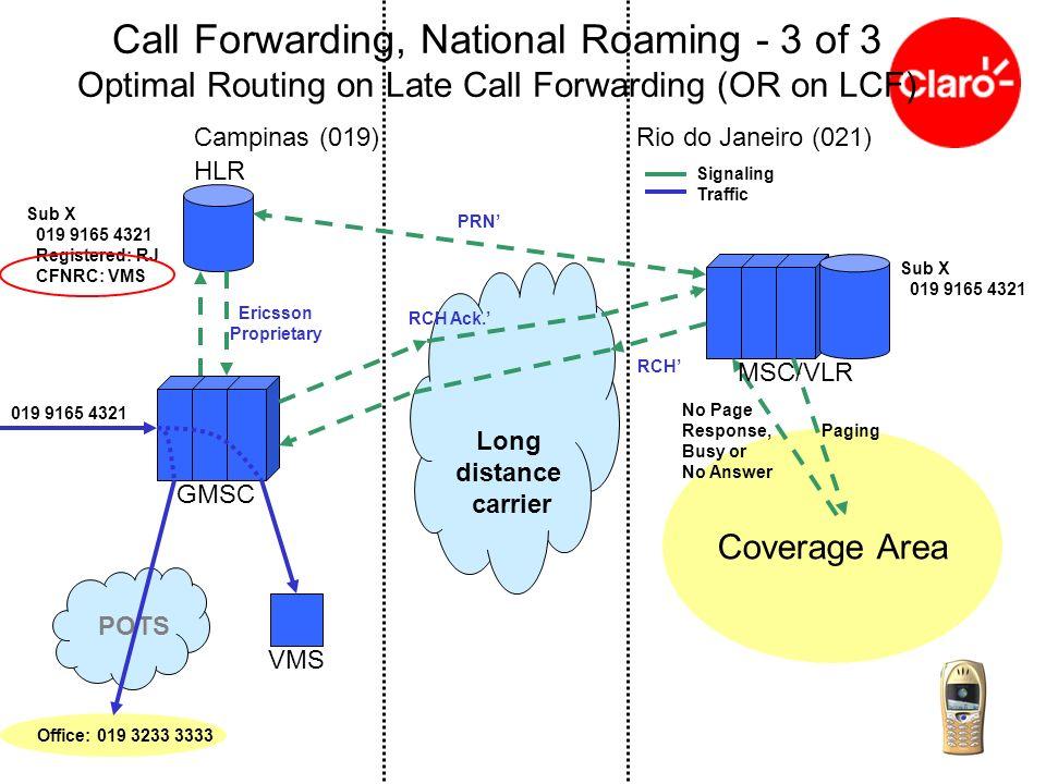 GMSC MSC/VLR International Long distance carrier HLR Brazil (55)Mexico (52) Sub X 021 9165 4321 Registered: Mexico 021 9165 4321 Signaling Traffic International Roaming Terminated call successful (i) SRI (ii) PRN (iii) PRN, resp (MSRN) (iv) SRI, resp (MSRN)
