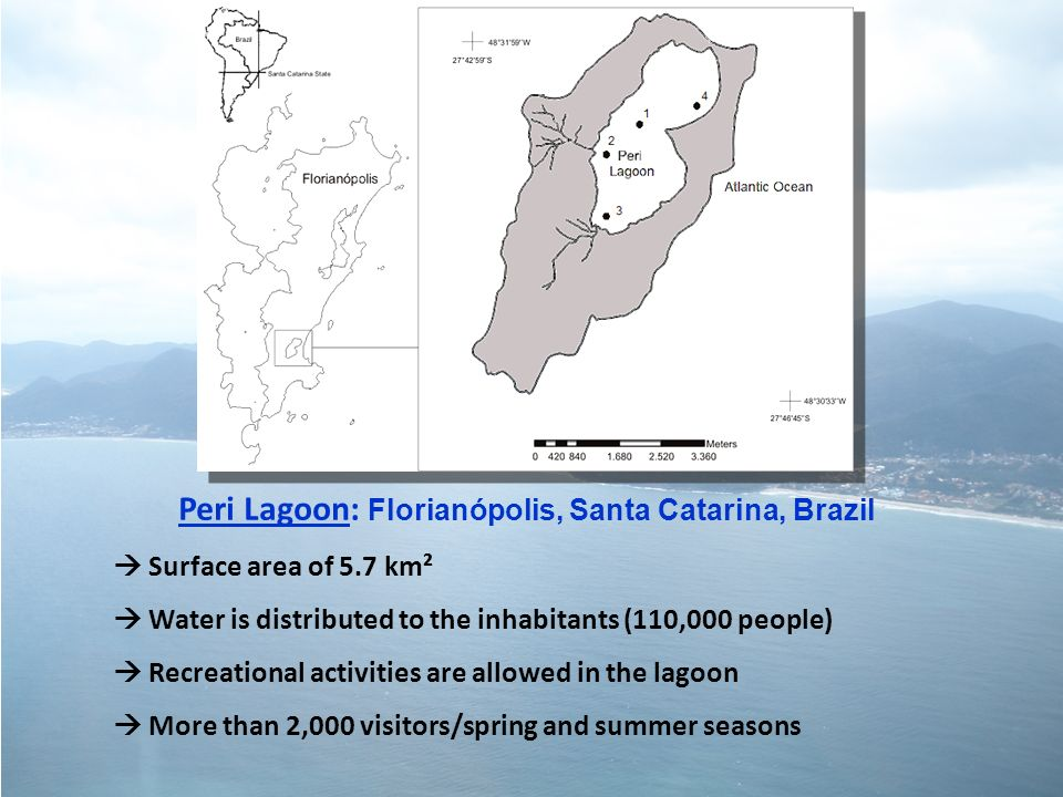 Peri Lagoon: Florianópolis, Santa Catarina, Brazil Surface area of 5.7 km² Water is distributed to the inhabitants (110,000 people) Recreational activ
