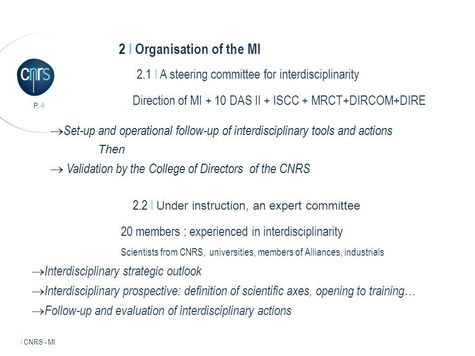 Intervenant l mentions légales.P. 5 l CNRS - MI 3 I The actions 3.1 I The grand challenges.