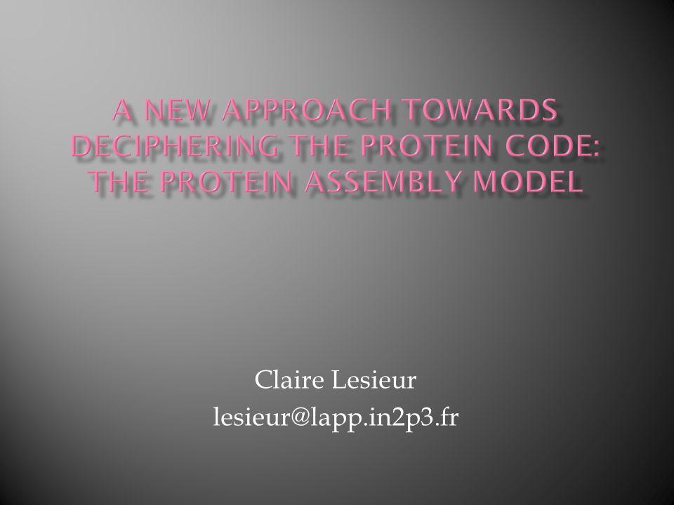 Claire Lesieur lesieur@lapp.in2p3.fr