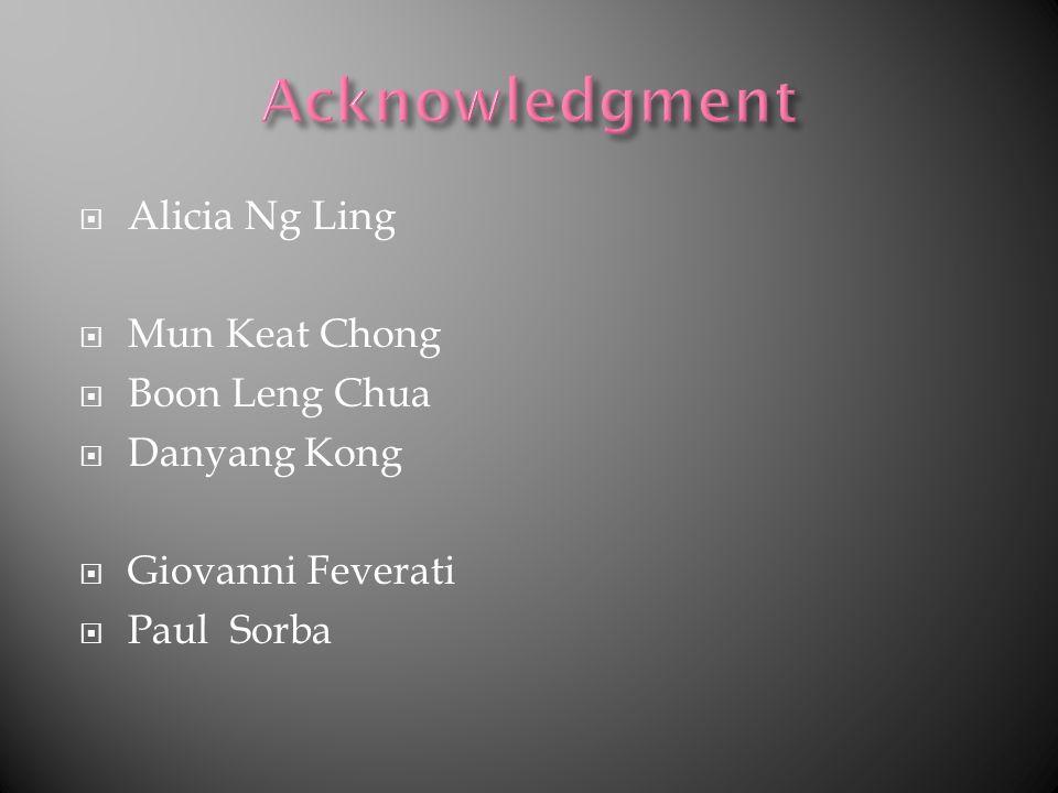 Alicia Ng Ling Mun Keat Chong Boon Leng Chua Danyang Kong Giovanni Feverati Paul Sorba
