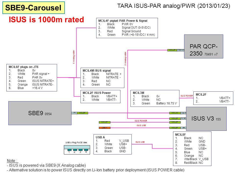 MCIL6F PAR QCP- 2350 70491 v7 MCBH4M X Analog cable ISUS V3 155 MCBH4F SBE9 0954 JT6MCIL4M MCIL4F MCIL6F plugs on JT6 1.Black0v 2.WhitePAR signal + 3.