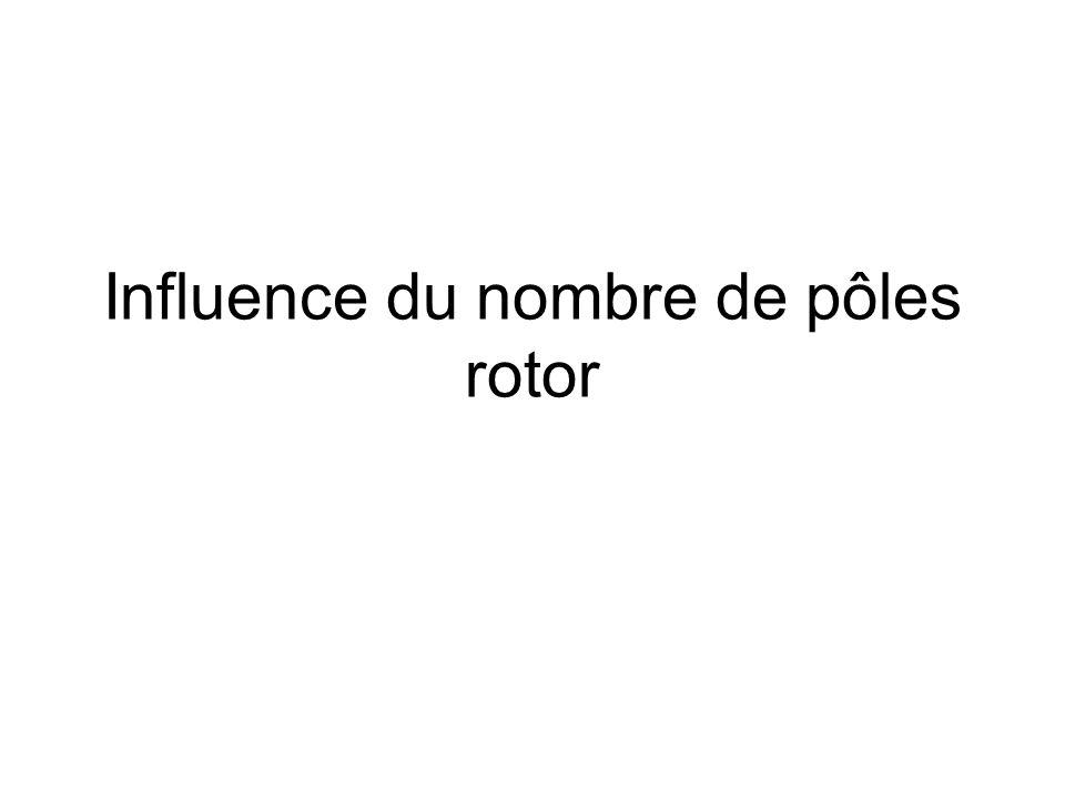 Influence du nombre de pôles rotor