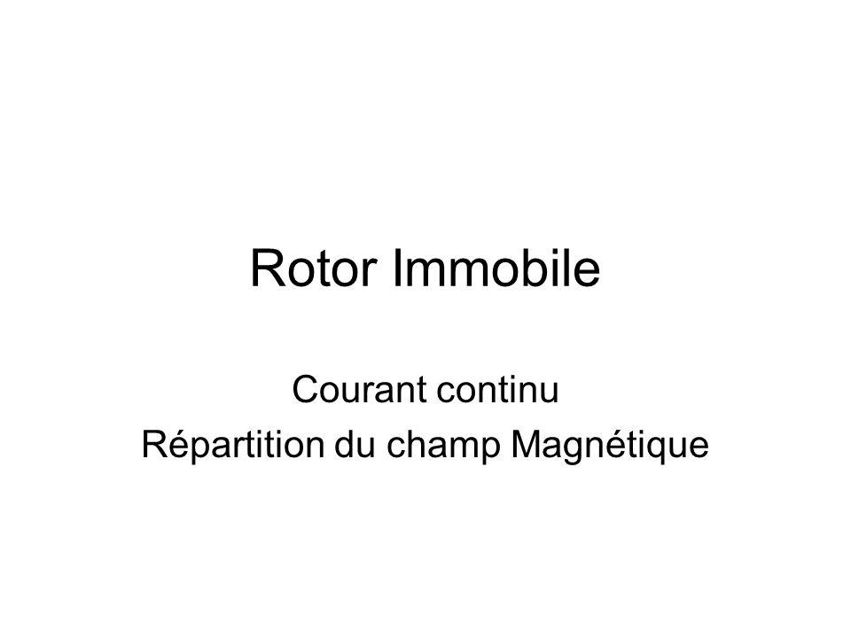 Rotor Immobile Courant continu Répartition du champ Magnétique