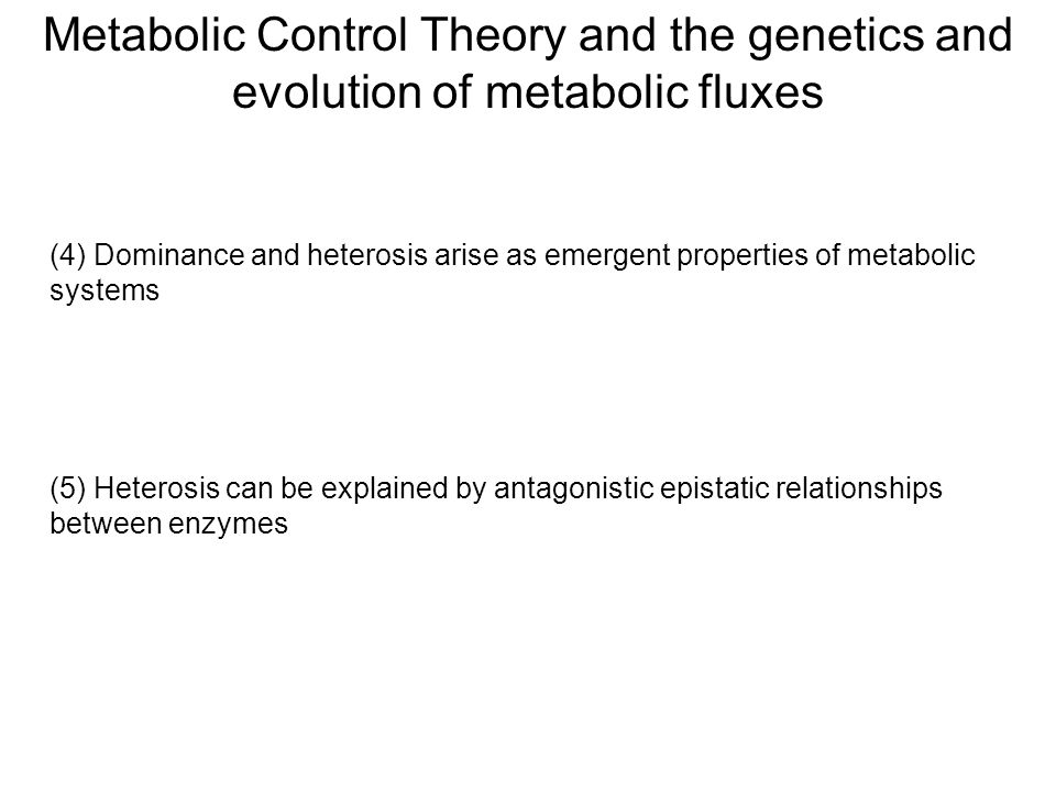 Metabolic Control Theory and the genetics and evolution of metabolic fluxes (4) Dominance and heterosis arise as emergent properties of metabolic syst